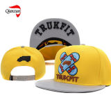 Yellow 3D Embroidery Snapback Caps