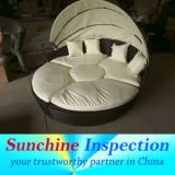 Outdoor Furniture Inspection Service / Sun Island Rattan Day Bed Quality Inspection Services / Pre-Shipment Inspection