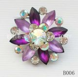 Fashion Jewelry Glass/Rhinestone/Acrylic Stones Brooches
