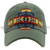 Washed Joint Embroidery Cotton Twill Sport Baseball Cap (TMB9045)