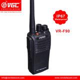 Vr-F90 Portable Walkie Talkie 5W UHF IP67 Waterproof Two Way Radio