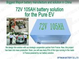 Deep Cycle 72V 105ah LiFePO4 Battery for Pure Electric Car