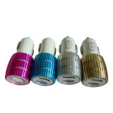 Wholesale Dual USB Car Charger with Blue Light for Smartphone