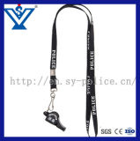High Quality Army Police Plastic Whistle with String (SYJD-03)