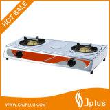Popular Model Super Flame Stainless Steel 2 Burner Gas Stove Jp-Gc206