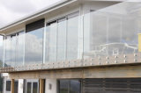 Frameless Glass Railing Design with Stainless Steel Standoff