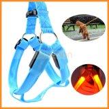 Nylon LED Light up Custom Dog Pet Collar Harness Leash