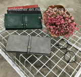 New Fashion PU Leather Lady Purse /Women Wallets with Coin Pocket
