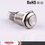 16mm Vandal Resistant Metal LED Push Button Switch