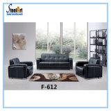 Office Furniture Black Leather Sofa Set (KBF F612)