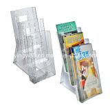 Countertop Clear Acrylic Brochure Stand with Logo (YYB-0121)