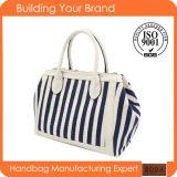 Fashion Women PU and Cotton Material Lady Handbag Bag (BDX-161036)
