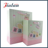 Cheap Pink Color Shopping Packaging Customize 3D Paper Baby Bag