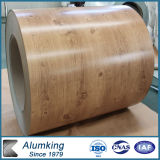 Wood/Marble Grain Prepainted Aluminum Coil for Roller Shutter, 0.15-1.20mm