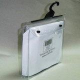 Vinyl PVC Clear Hanger Hook Bag with Button Closure
