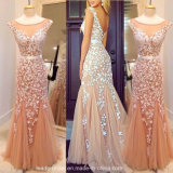 Lace Cocktail Party Dresses Sheer Long Formal Evening Dress E1044