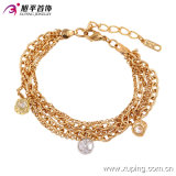 Fashion Best Sale Elegant Gold Jewelry Bracelet with Synthetic CZ -74051