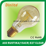 A60-15(ACR)-E27-Clear and Golden Rustika Bulb