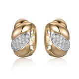 Wholesale Cheap Yellow Gold Brass Stone Earrings
