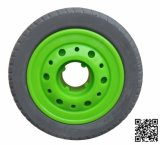 Heavy Duty Elastic Grey Rubber Tyre Wheel
