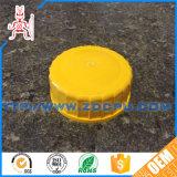 OEM Yellow PE Plastic Ribbed Screw Caps for Pipe
