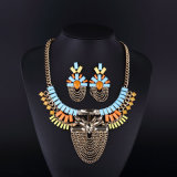 2016 Colorful Bohemia Style Crystal Acryl Necklace Set