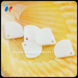 Sector Shape White One Hole Nature Pendant