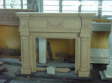 Granite/Marble Statue Fireplace Mantle/Mantels with Electric Fireplace for Indoor (SC034)