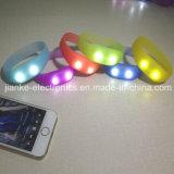 Flashing Silicone Sound Activated LED Bracelet with Logo Print (4010)