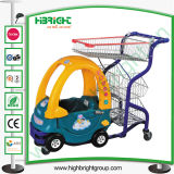 Supermarket Child Kiddie Shopping Trolley with Basket