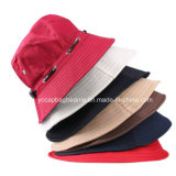 Fashion Ladies Cotton Bucket Hat, Wide Brim Sun Hat