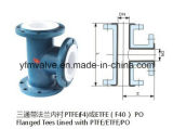 Teflon Lined Equal Tee for Chemical Industry