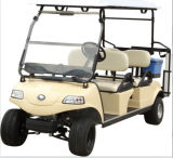 Electric Golf Car/Cart/Buggy, Sightseeing Car, Utility Vehicle (DEL3042G, gold, 4-Seater)
