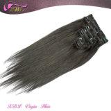 Cuticles Intact Virgin Peruvian Hair Extension Tangle Free Clip in Hair