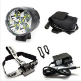7000lm Xml-T6 Waterproof Grade IP65 12000mAh Battery Operated Hunting CREE 5 LED Bike Light