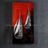 Handmade Aluminum Relievo Paintings, 3D Metal Wall Art for Home Decoration