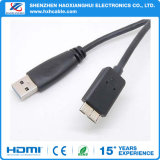 Black USB Cable Am-Micro to Bm USB 3.0 Cable