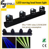 4 Head RGBW 4in1 LED Moving Head Beam Stage Lighting