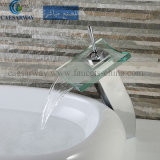 Acs Brass Single Handle Waterfall Basin Faucet with LED