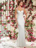Embroidary Beading Bridal Gown Spaghetti Strap White/Ivory Wedding Dress