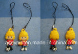 PVC Mascot Mobile Phone Strap for Football