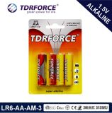 Super Alkaline Dry Battery with Ce Approved for Toy (LR6-AA Size)