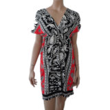 Ladies′ Printed DTY Beach Dress