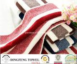 100% Cotton Velour Color Jacuqard Sport Towel