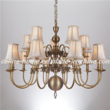 Traditional Chandelier Lamp Pendant Lighting with 15 LED Bulb (SL2078-10+5)