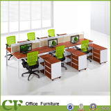 16 mm Top Panel 6 Persons Office Staff Workstation Partition Desk