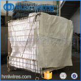 Galvanized Folding Storage Steel Wire Container