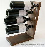 Simple Elegant Popular Design Free Standing Wooden Wine Bottle Holder