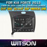 Witson Car DVD for KIA Forte 2013 Car DVD GPS 1080P DSP Capactive Screen WiFi 3G Front DVR Camera