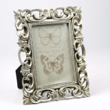 Resin Antique Silver Baroque Photo Frame